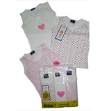 Kidde Girls 3-pc Singlet Set - Pink/White